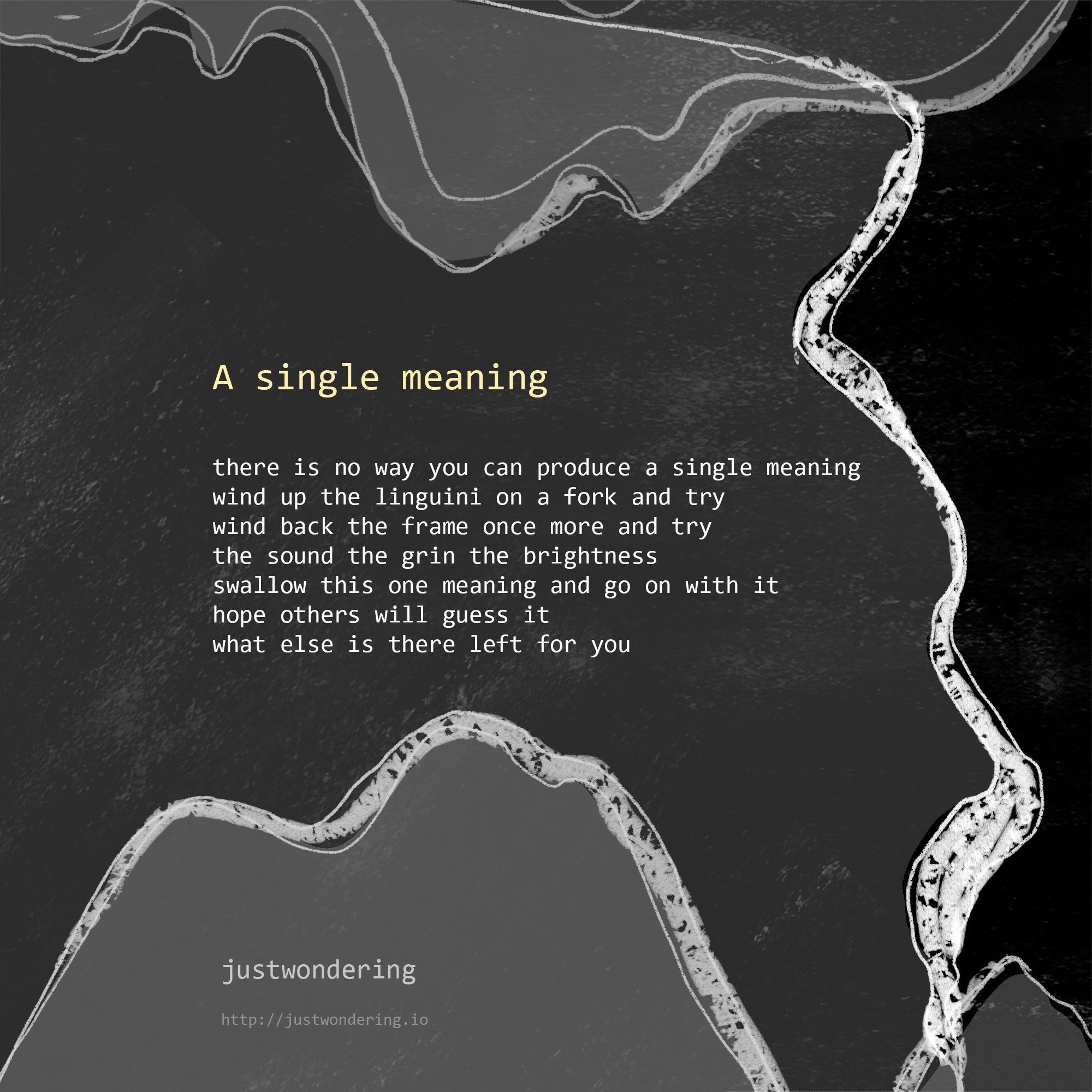 Poem-A single meaning