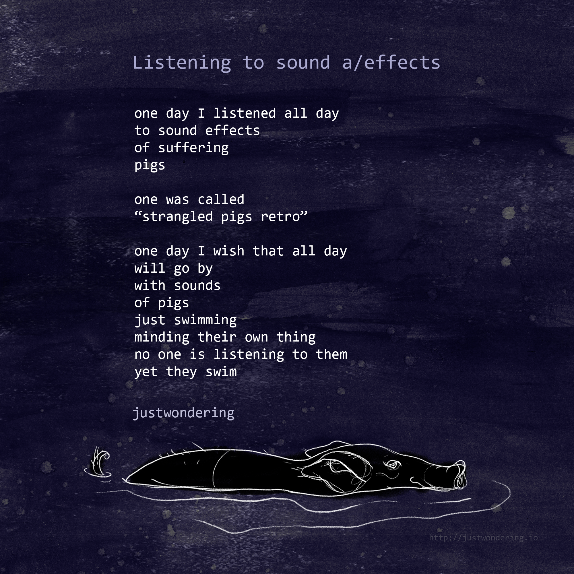 Poem-Listening to sound aeffects