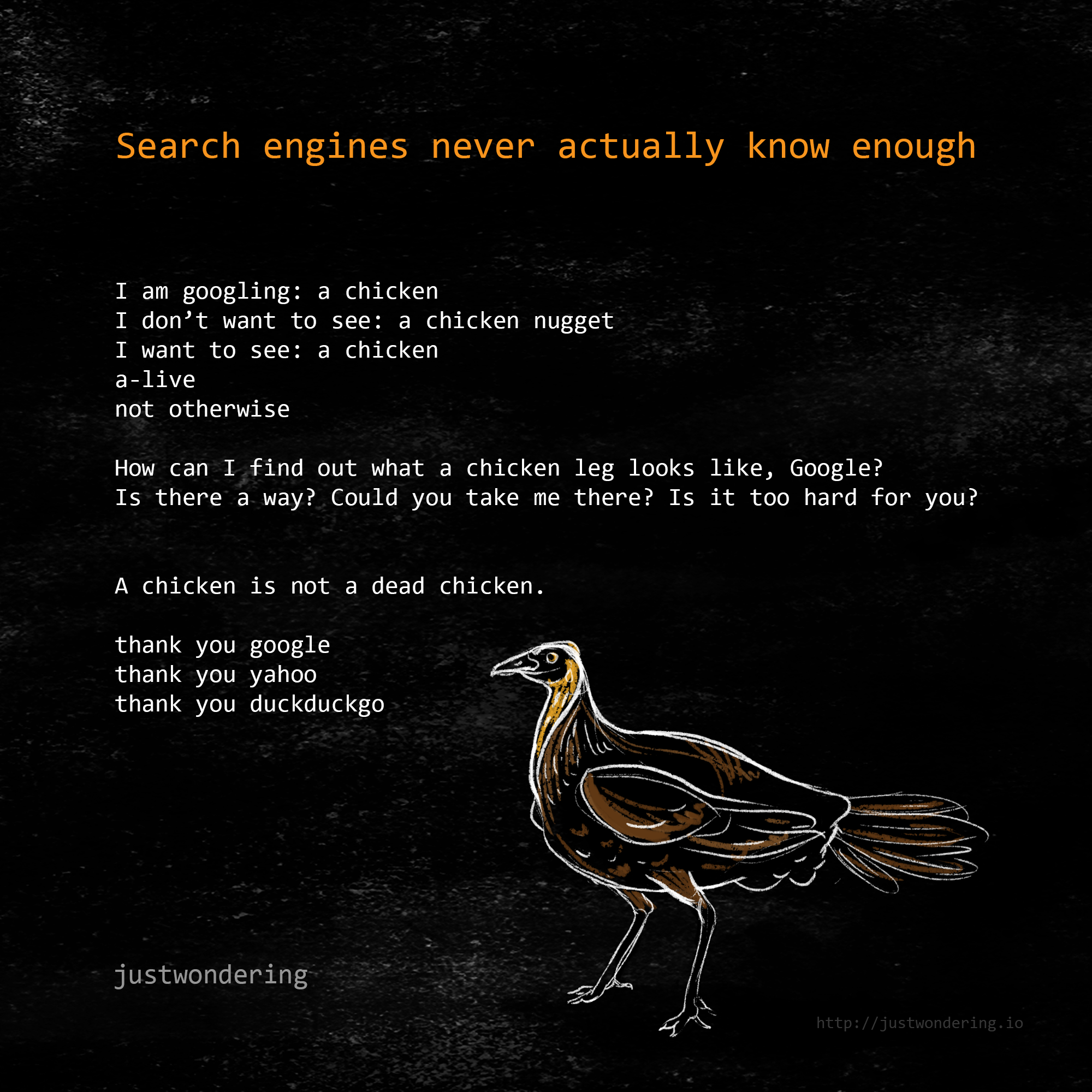 Poem-Search engines never actually know enough