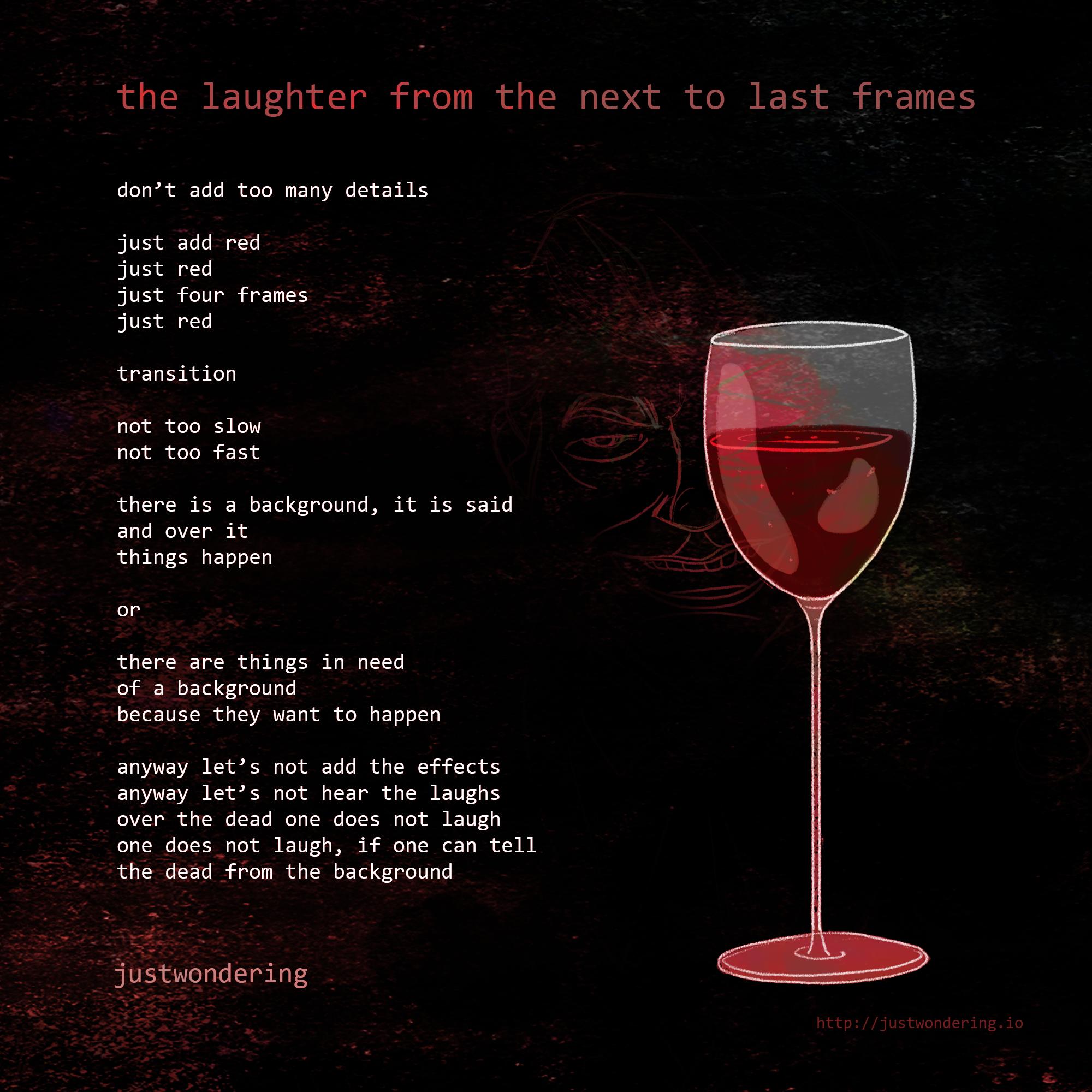 Poem-The last frames