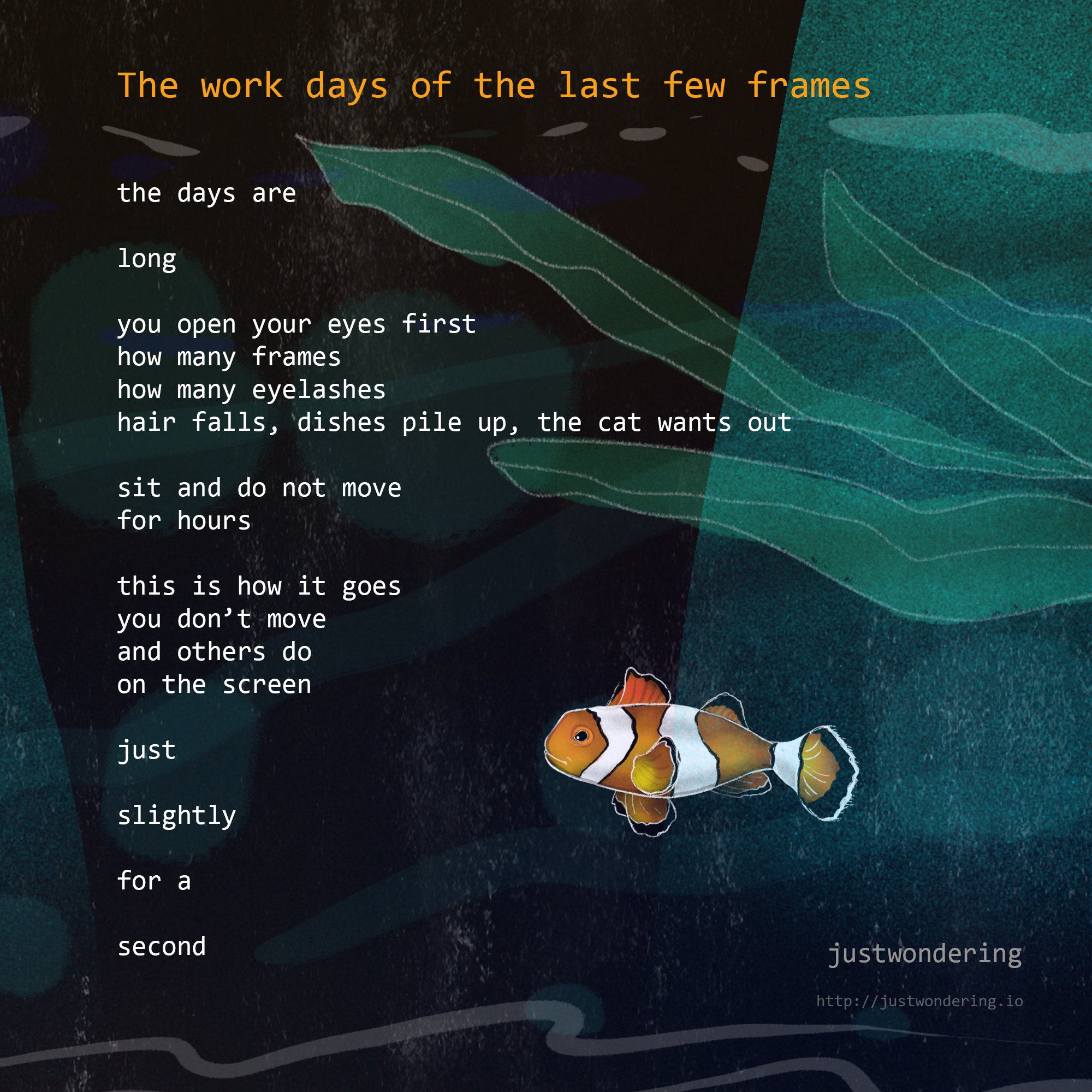 Poem-The work days